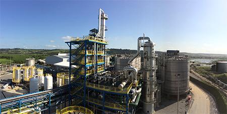 usina de produção de etanol 2g