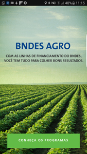 Tela do aplicativo BNDES Agro